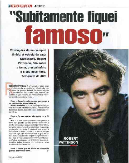 FOCUS 14 Abril - Subitamente fiquei famoso ( Suddenly I became famous) 2